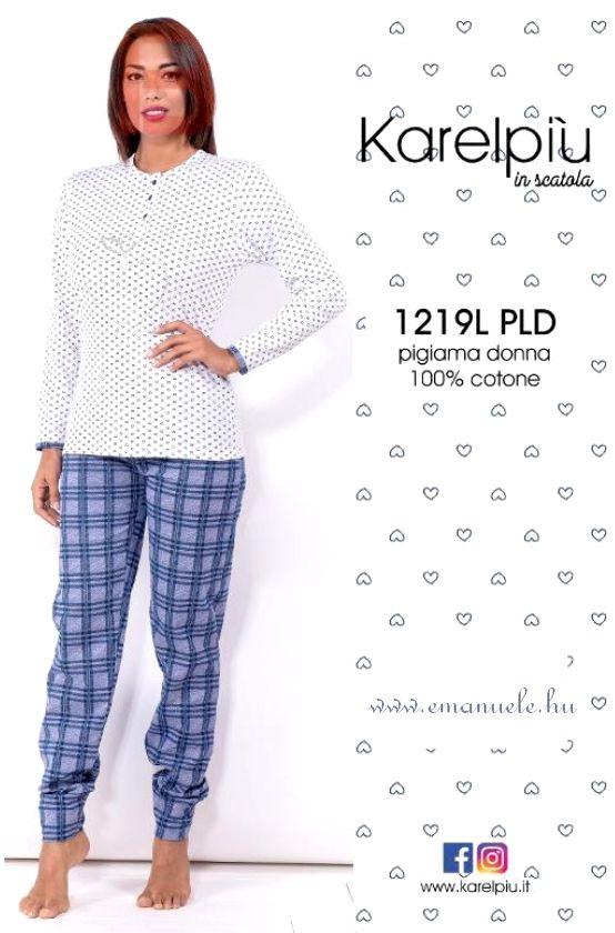 Hosszú pamut pizsama - Emanuele Üzlet és Webshop d3555e32fc
