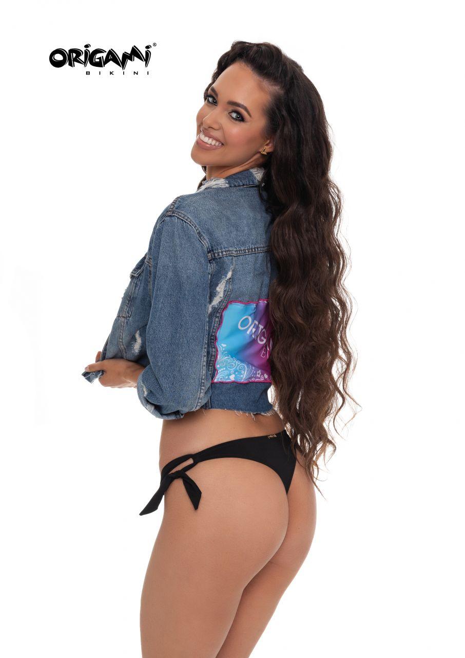 klasszikus illeszkedés cipő gyári üzlet Origami Bikini, Fekete tanga alsó - Emanuele Üzlet és Webshop