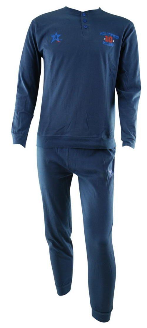 Hollywood Milano Férfi hosszú pamut pizsama